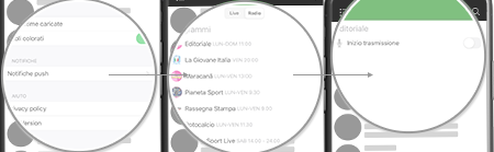 Notifiche radio